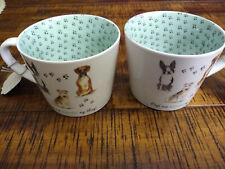 """Two (2) Cooksmart """"Dogs are Kinda my Things"""" Cup Mug England"""