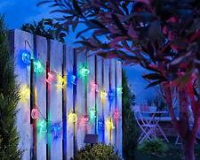 LED Solar Außen Lichterkette Buchstaben 77 teilig für Ihre Garten Party - NEU