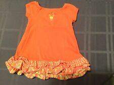 Girls Size 3-6 mo. Gymboree dress orange ruffles Holiday