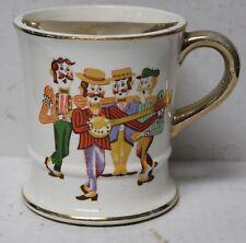 Vintage Barber Shop Quartette Mustache Cup Mug by Enesco