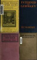 40 RARE WORLD WAR 1 PRISON CAMPS RUHLEBEN BRITISH GERMAN PRISONERS BOOKS ON DVD
