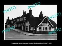 OLD LARGE HISTORIC PHOTO NEWHAVEN SUSSEX ENGLAND THE PEACEHAVEN TAVERN c1950