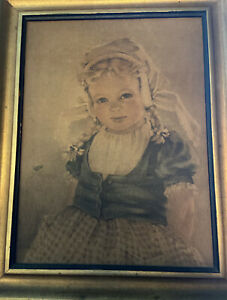 "Vintage Reofect Textured Painting/Print ""Katrina "" by Allaben Framed Farmhouse"