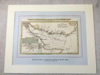 Vintage Print Antique Map Buenos Aires Argentina 1806 Harbour Port Nautical Art