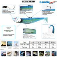 FLASHMER : BLUE SHAD : Un shad souple anti accroche, aromatisé et monté en texan