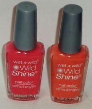 2 Wet n Wild WILD SHINE Nail Color Nail Polish DREAMY POPPY & BLAZED