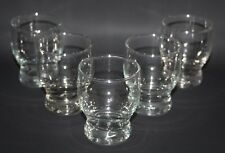 """Set of 5 x 3"""" Clear Glass Juice Glasses - vgc"""