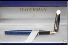 WATERMAN HEMISPHERE BLUE MARBLE FOUNTAIN PEN FINE  PT  IN BOX ***