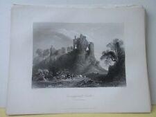 Vintage Print,CARRIGOGUNNEL CASTLE,Scenery of Ireland,Bartlett