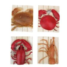 Crab & Lobster Fridge Magnet Set - 4 x Shellfish Magnets - Free 1st Class Post!