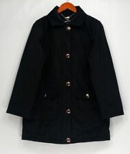 Dennis Basso Sz Basic Coat M Water Resistant Coat Quilted lining Black A298302