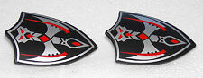 2 x KNIGHT CREST SHIELD BLACK SILVER PLAYMOBIL Knight's Castle Robber barons