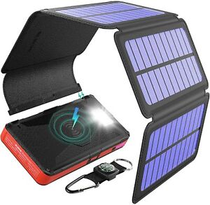 BLAVOR Solar Charger Five Panels Detachable Portable Power Bank - Brand New