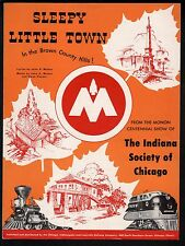 Sleepy Little Town 1947 Monon Centennial Show Indiana Society Sheet Music
