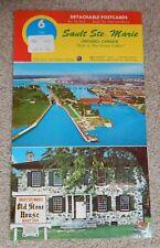 SAULT STE MARIE, ONTARIO, CANADA~VINTAGE POSTCARDS STRIP~SOO LOCKS, GREAT LAKES