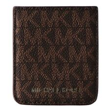 Michael Kors Phone Pocket Sticker with Adhesive Backing - Brown