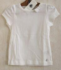 Neuf : Tee-shirt PETIT BATEAU 4 ans noeud coton ivoire manches courtes fille