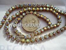 "12"" / 30cms x Preciosa 18ss Crystal AB chatons in a goldtone cupchain / chain"