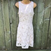 Vintage 1990/'s Narcissus Cream /& Gold Knit Lace Overlay Dress Women/'s Size 6