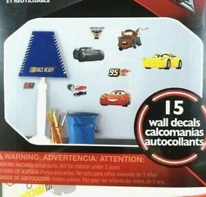DISNEY PIXAR CARS 3 RoomMates Wall Decals Total 15 Removable Stickers MADE USA
