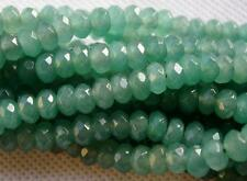 """5x8mm Natural   Faceted Aventurine Abacus Loose Beads Gemstone 15"""" AAA"""