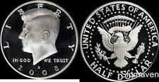 2008 S 90% Silver Kennedy Half Dollar Deep Cameo Gem Proof No Reserve