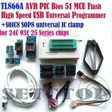 TL866A 7 sockets IC clip USB Minipro Programmer AVR PIC Bios 51 MCU Flash