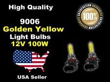 USA Seller Xenon Gas Headlight Light Bulb -100w Golden Yellow 9006 Low Beam-C