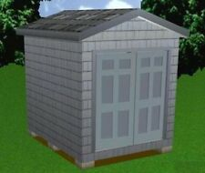 8x10 Storage Shed Plans Package, Blueprints, Material List & Instructions
