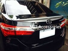 MIT Toyota Corolla Altis ASIA 2014-on ABS rear trunk lip spoiler-color Painted