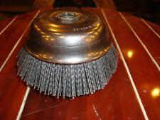 """Osborn 32138 6"""" ATB Abrasive Nylon cup brush NIB 80 G"""