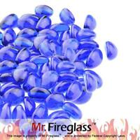 Cobalt Blue 1/2-Inch Reflective Fire Glass Cashew Fireplace and Fire Pit 10 lb