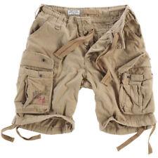Pantalones cortos de hombre en color principal beige de 100% algodón