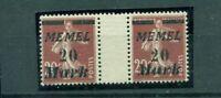 Memel auf französischer Marke  Nr.109 ZS postfrisch **