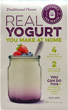 Real Yogurt Starter - 4 Packets - 4 Pints With Every Batch, Cultures For Health