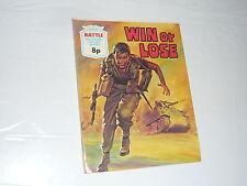 Battle Picture Library Comic Magazine No904 Win or Lose Ju87 Panzer WW2 F1 Car