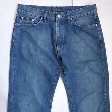 Hugo Boss Men's 36x34 Texas Black Label Denim Jeans Med Wash Straight Leg
