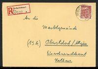 Berlin MiNr. 54 Einzelfrankatur auf R-Brief gelaufen (F503