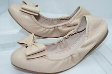 New Miu Miu Shoes Ballerina Flats Size 38 Cream Leather Calzature Donna