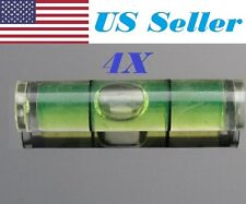 "4 PCs D 8mm L 35mm Acrylic Bubble Spirit Level Vial 5/16"" (D) x 1 3/8"" (L)"