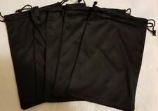 4.5 x 6 Inch inside Double Drawstring Craft Bag Black Color High Quality 5 Piece