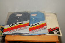 Lot of 3 Vintage Wilson Polo Shirts S Made in Usa 50% Kodel Polyester 50% Cotton
