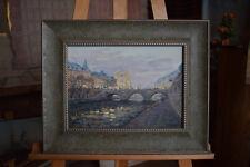 Russian oil cardboard Impressionism Paris Landscape Demidov Alexander п-11