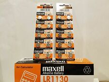 20 New Maxell LR1130 AG10 189 1130 LR54 Battery USA SELLER FREE SHIPPING