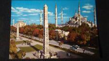 Schöne AK Istanbul Hippodrom Sultanahmet Camii Blaue Moschee ungel. 1970 ki123