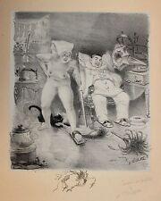 Adolphe Willette curiosa Les Sept Péchés Capitaux 1906 Paresse Litho originale