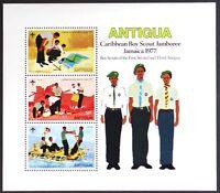 AT068 ANTIGUA 1977 Boy Scout Jamboree, Jamaica S/S Mint NH
