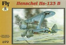 HENSCHEL Hs-123 B ATTACK AIRCRAFT (LUFTWAFFE MARKINGS) #72010 1/72 FLY