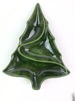 Atlantic Mold Ceramic 1986 Christmas Tree Platter Nut Candy Serving Dish