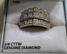 Orginal Diamond Ring with 14k Gold  And 925 Sterling Silver Ring Size 6